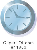 Royalty-Free (RF) Clock Clipart Illustration #11903