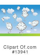 Royalty-Free (RF) clock Clipart Illustration #13941