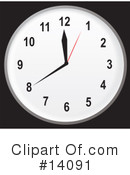 Royalty-Free (RF) Clock Clipart Illustration #14091