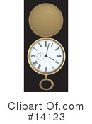 Royalty-Free (RF) Clock Clipart Illustration #14123