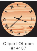 Royalty-Free (RF) Clock Clipart Illustration #14137