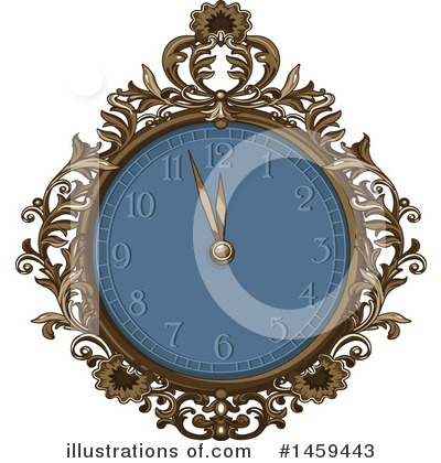 Royalty-Free (RF) Clock Clipart Illustration by Pushkin - Stock Sample #1459443