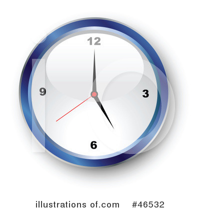 Clock Clipart #46532 by KJ Pargeter