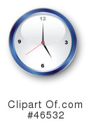 Royalty-Free (RF) Clock Clipart Illustration #46532