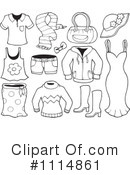 Royalty-Free (RF) Clothes Clipart Illustration #1114861