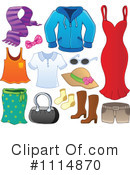 Royalty-Free (RF) Clothes Clipart Illustration #1114870