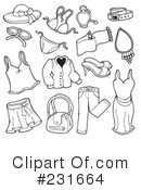 Royalty-Free (RF) Clothes Clipart Illustration #231664