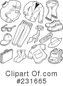 Royalty-Free (RF) Clothes Clipart Illustration #231665