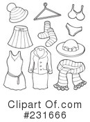 Royalty-Free (RF) Clothes Clipart Illustration #231666