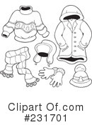 Royalty-Free (RF) Clothes Clipart Illustration #231701