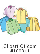 Royalty-Free (RF) Clothing Clipart Illustration #100311