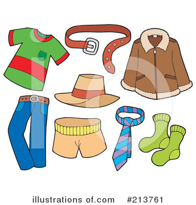 Royalty-Free (RF) Clothing Clipart Illustration by visekart - Stock Sample #213761
