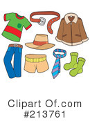 Royalty-Free (RF) Clothing Clipart Illustration #213761