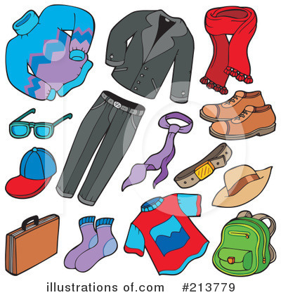 Royalty-Free (RF) Clothing Clipart Illustration by visekart - Stock Sample #213779