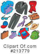 Royalty-Free (RF) Clothing Clipart Illustration #213779