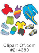 Royalty-Free (RF) Clothing Clipart Illustration #214380