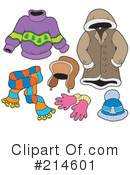Royalty-Free (RF) Clothing Clipart Illustration #214601