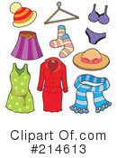Royalty-Free (RF) Clothing Clipart Illustration #214613