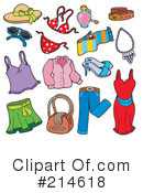Royalty-Free (RF) clothing Clipart Illustration #214618