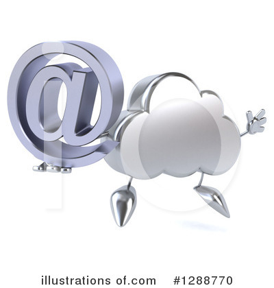 Cloud Character Clipart #1288770 by Julos