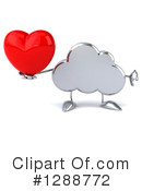 Royalty-Free (RF) Cloud Character Clipart Illustration #1288772