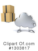 Royalty-Free (RF) Cloud Character Clipart Illustration #1303817