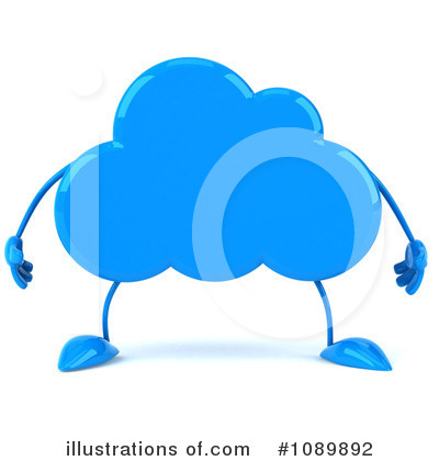 Cloud Character Clipart #1089892 by Julos