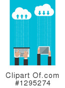 Royalty-Free (RF) Cloud Computing Clipart Illustration #1295274