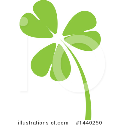 Royalty-Free (RF) Clover Clipart Illustration by ColorMagic - Stock Sample #1440250