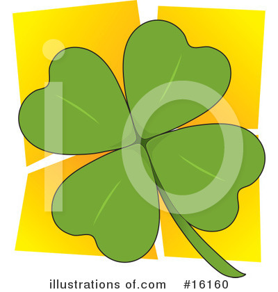 Four Leaf Clover Clipart #16160 by Maria Bell