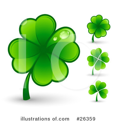 Royalty-Free (RF) Clover Clipart Illustration by beboy - Stock Sample #26359