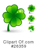 Royalty-Free (RF) Clover Clipart Illustration #26359