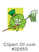 Royalty-Free (RF) Clover Clipart Illustration #32653