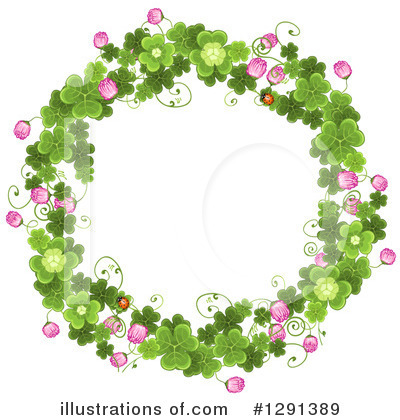 Royalty-Free (RF) Clovers Clipart Illustration by merlinul - Stock Sample #1291389