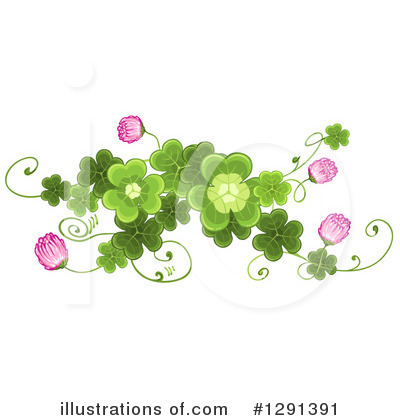 Royalty-Free (RF) Clovers Clipart Illustration by merlinul - Stock Sample #1291391