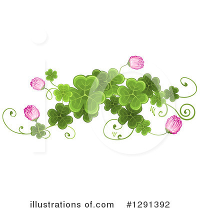 Royalty-Free (RF) Clovers Clipart Illustration by merlinul - Stock Sample #1291392