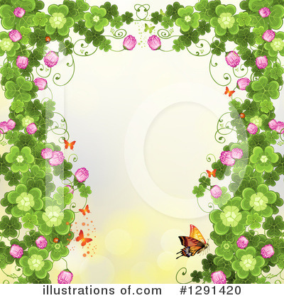 Royalty-Free (RF) Clovers Clipart Illustration by merlinul - Stock Sample #1291420