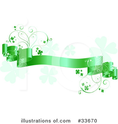 Royalty-Free (RF) Clovers Clipart Illustration by KJ Pargeter - Stock Sample #33670