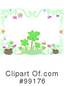 Royalty-Free (RF) Clovers Clipart Illustration #99176