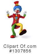 Clown Character Clipart #1307856 by Julos