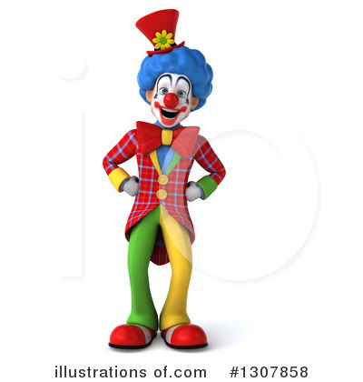 Clown Clipart #1307858 by Julos