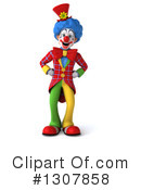 Clown Character Clipart #1307858 by Julos
