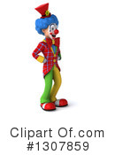 Clown Character Clipart #1307859 by Julos
