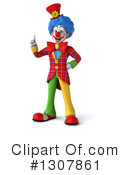 Clown Character Clipart #1307861 by Julos