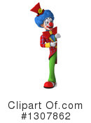 Clown Character Clipart #1307862 by Julos