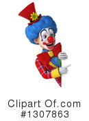 Clown Character Clipart #1307863 by Julos