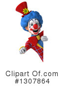 Clown Character Clipart #1307864 by Julos