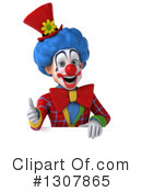 Clown Character Clipart #1307865 by Julos
