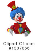 Clown Character Clipart #1307866 by Julos