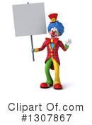 Clown Character Clipart #1307867 by Julos